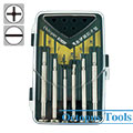6-Piece Screwdriver Set for Watch Repair Slotted Philips w/ Case