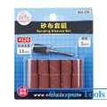 Sanding Sleeves and Sandpaper Mandrel Set 3mm Shank O.D. 11mm