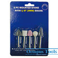 Assorted Mounted Stone Set 5pcs/set 3mm Shank