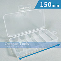Plastic Box 5 Compartments 150x75x28mm