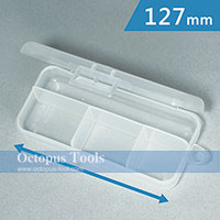 Plastic Box ( 4 compartments, 127 x 56 x 28 mm)