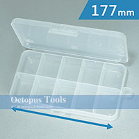 Plastic Box (10 compartments, 177 x 88 x 28 mm)