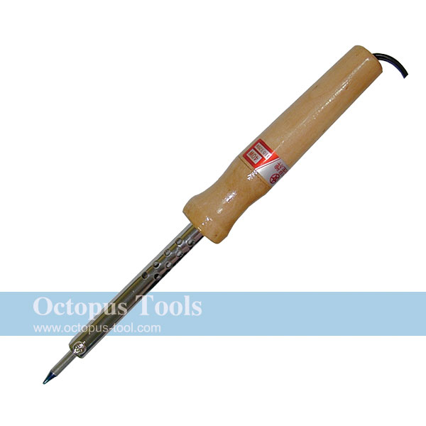 Soldering Iron with Wooden Handle (220V, 30W)