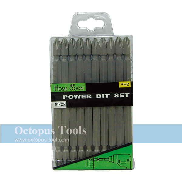 Double-Ended Philips Screwdriver Power Bit Set (#2, 110 mm long)
