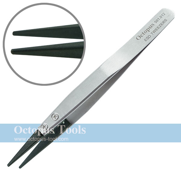 ESD Replacement Tweezers Round Point Tip