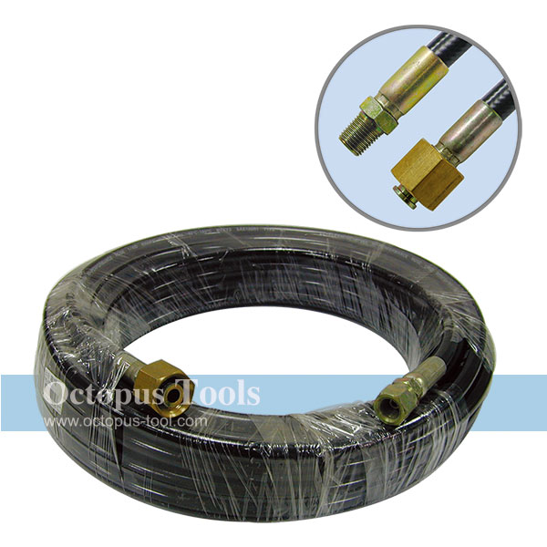 Rubber Hose for Car Washing 15M Long w/ Male Hose Nozzles